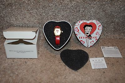 Betty Boop collector's watch in heart collector's tin Avon Exclusive