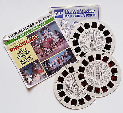 Viewmaster - Wonderful World of Disney - Snow White Pinocchio Lady and the Tramp