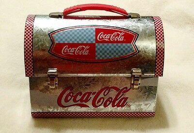 2001 Coca-Cola metal dome lunchbox