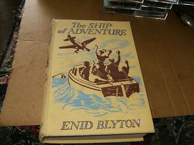 The Ship of Adventure by Enid Blyton, Hardcover Book,Good-Shape,1954.