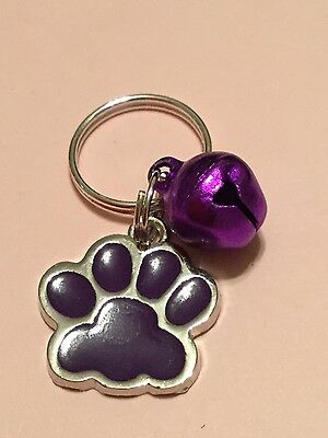 Anti-Theft Purse Bell charm Dog security Handmade Puppy Paw Charm