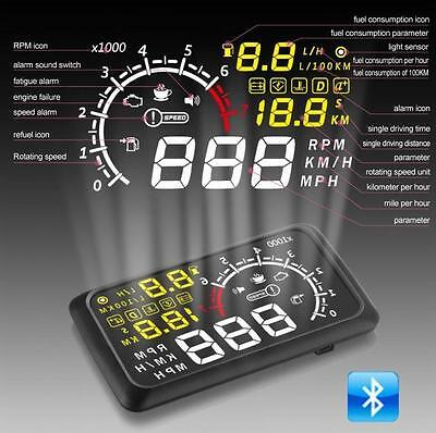 5.5 Inch OBD2 Automotive Heads-up Display X3 Black Car Electronics Products