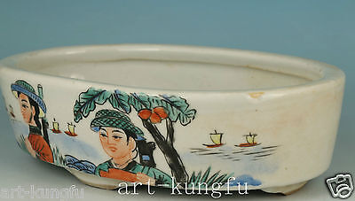 Old Porcelain Handmade Painting Cultural Revolution Red Guard Bowl plate