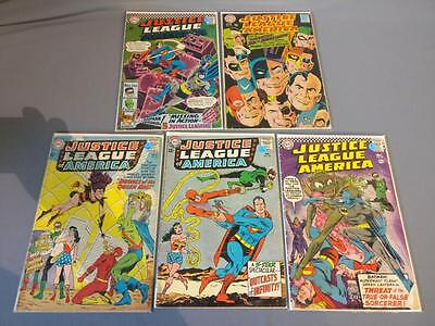 DC Comic Lot: Justice League Of America JLA  #23, 25, 49, 52, 61  (J029 - J033)