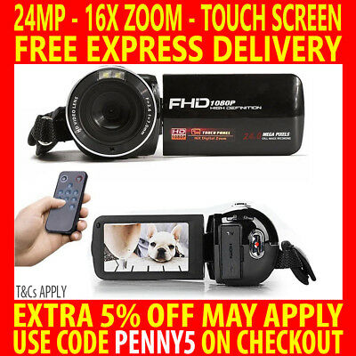 """24Mp Full Hd 1080P Digital Video Recorder Camera 3"""" Lcd Touch Screen Camcorder"""
