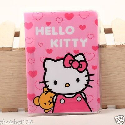 New Hello Kitty Bear Passport Holder Case Cover Pink KK170