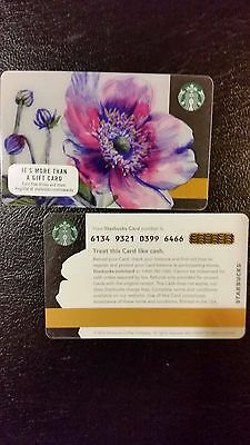 2017 new SPRING FLOWERS series 6134 Starbucks Gift Card - USA