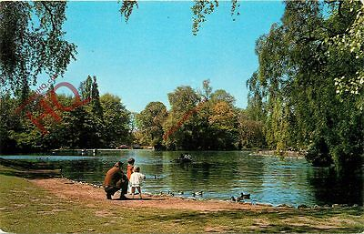 Postcard: Leicester, Boating Lake, Abbey Park