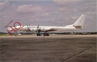 Postcard: RUSSIAN AIRFORCE TUPOLEV TU-95MS BEAR-H 34108 @ RAF FAIRFORD