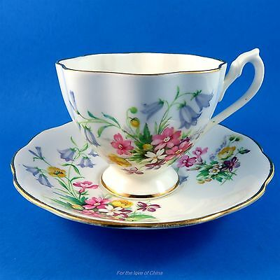 Pretty Queen Anne Floral bouquet Tea Cup and Saucer Set