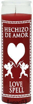 Love Spell, Hechizo De Amor, Red, 7 Day Candle, Lunari13, Spells, Rituals, Wicca