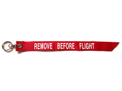 Key chain ring Red Remove Before Flight Pilot Crew Luggage Tag Motorcycle Bike