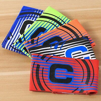 Professional Football Captain Armband Game Soccer Arm Band Stick Multi Color