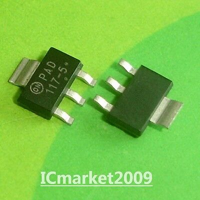 10 PCS NCP1117ST50T3G SOT-223 117-5 1.0A Low-Dropout Voltage Regulators