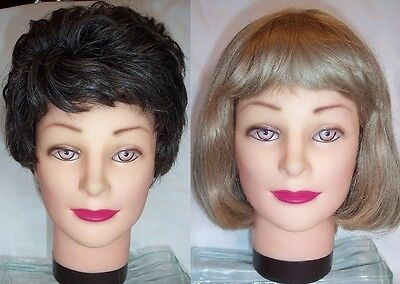 LOT 2 Vintage Synthetic WIGS-Blonde/Brunette-Costume-Halloween-Everyday Wear