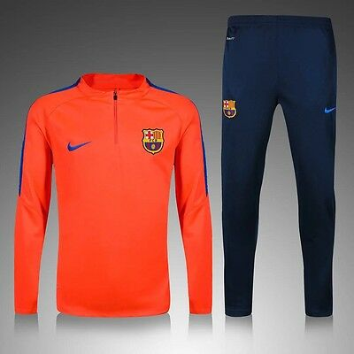 Barcelona Kids Coral/ Navy Football Tracksuit, Not Kit, Age 7/8 New With Tags