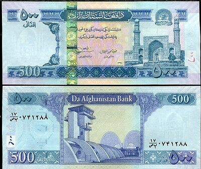 Afghanistan 500 Afghanis Nd 2012 Sh 1391 P 76 Sign 20 New Unc Nr