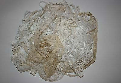 Beautiful Mixed Ivory and White Vintage Lace-20 Metres