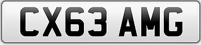 'CX63 AMG' Mercedes C Class C63 AMG Private Cherished Registration Number Plate