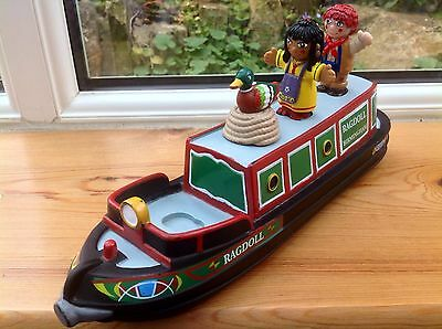 Rosie & Jim Canal Boat Barge Narrowboat And Figures Bath Toy - Complete - Rare!!