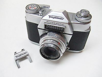 VOIGTLANDER BESSAMATIC CAMERA WITH f2.8 50mm COLOR-SKOPAR X LENS