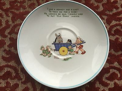 shelley decorative mable lucie attwell saucer ( donkey cart scene )