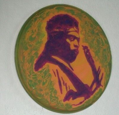 Jimi Hendrix, Hand Painted Drumhead 14 Ins Across..ready To Hang Sale