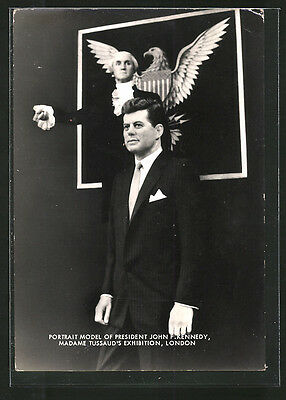 AK London, Madame Tussaud´s Exhibition, Präsident der USA John F. Kennedy 1965