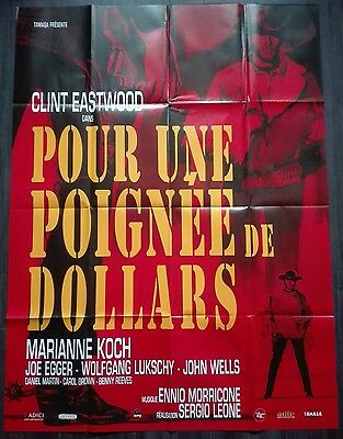 RR2015 A FISTFUL OF DOLLARS Clint Eastwood Sergio Leone French XL movie poster