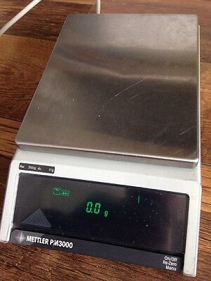 Mettler PM3000 Lab Scales W/ Under Weighing D=0.1g Max=3100g