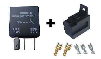 MICRO Relay - 5 Pin - 'Changeover Contact' - 20A - 12V  + Base with Terminals