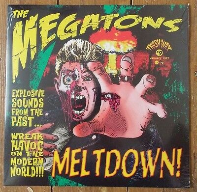 THE MEGATONS - Meltdown BLACK vinyl LP NEW LTD edition POLECATS / VIBES