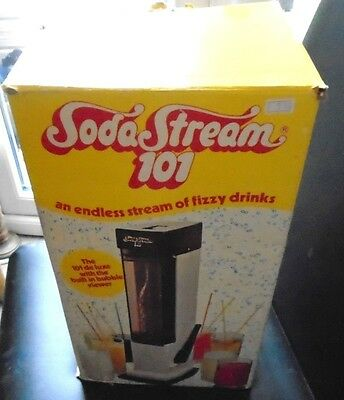 Vintage 70's Soda Stream with all Extras Boxed missing 2 measure cups