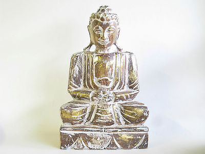 Beautiful Hand Carved Wooden Sitting Buddha Statue 40cm.....