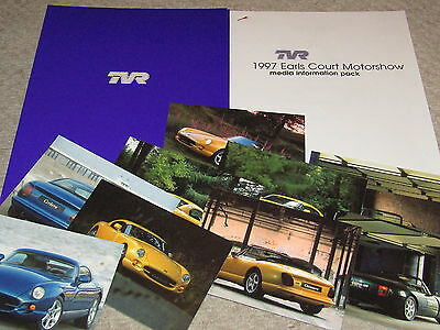 Tvr 1997 Earls Court Motor Show Press Pack Brochure Griffith Speed 12 Cerbera