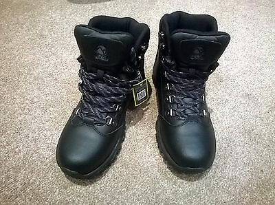 Gelert Womens Leather Hiking Boots Black Size 5 BNWT
