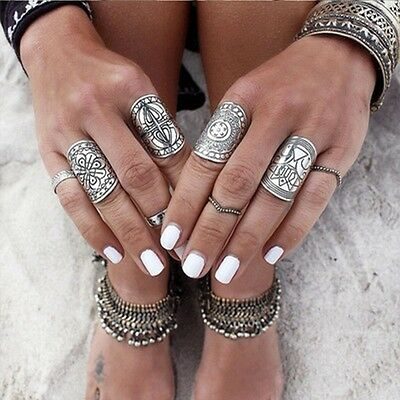 Hot New Band Silver Carved Ethnic Wide Beauty Ring Jewelry Women's Beautiful