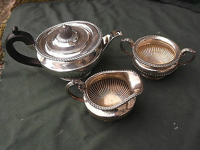 1825 George 1V teaset by Benjamin Smith maker to Rundell and Bridge 45ozs