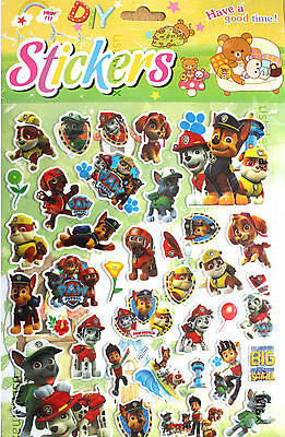 PAW PATROL ALL 36 STICKERS Kids Boy Girls Bedroom Decal Wall Art Gift Window NEW