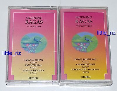 2 x Morning Ragas - Indian Classical Music Cassettes Tapes (not CD)