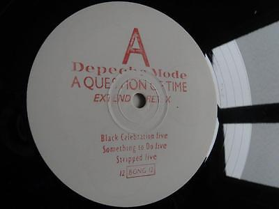 "DEPECHE MODE - A Question Of Time - RARE ! 12"" Promo EP - 12 BONG 12 - Listen !!"