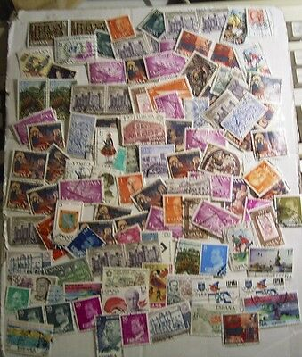 Spain Used Stamps Off Paper Clearance Lot