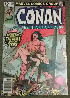 marvel comics - conan the barbarian july 1979 #100,nm-,bagged & boarded