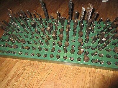 Lot of 150+ Machinist's Tools with Wood Tool Rack - Estate