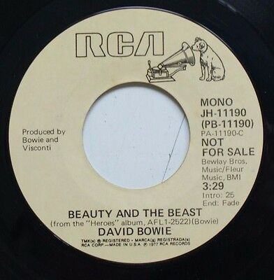 "David Bowie Beauty And The Beast Usa Promo 7"" Mono/stereo"