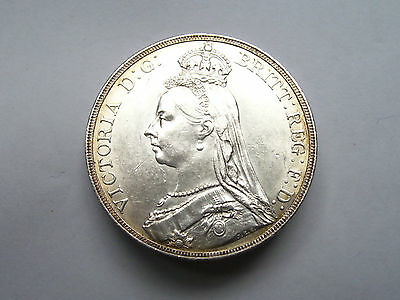 Victoria Crown Dated 1890 Uncirculated,scarce In This Grade