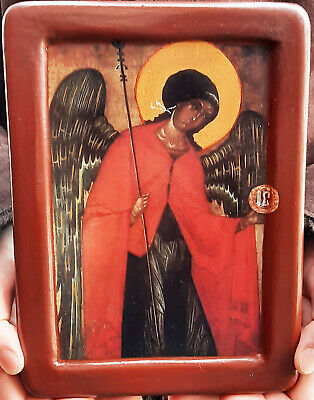 The Archangel Gabriel Byzantine Gesso Art Christian Orthodox Religious Icon Gift