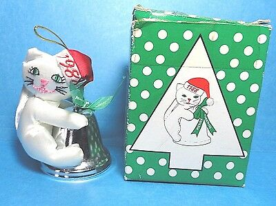 198 Fancy Feast Christmas Cat Bell Ornament