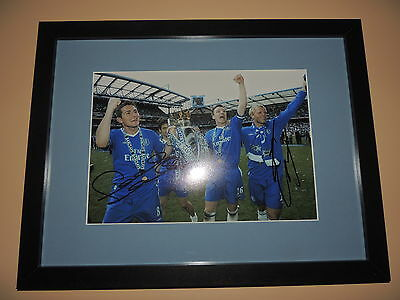 Signed 12x8 photo  Mounted and Framed Frank Lampard and Gudjohsen  Chelsea  COA