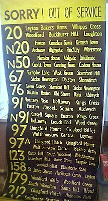London Transport First Capital Citybus side CC Bus destination blind display 98